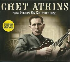 CHET ATKINS PICKIN' ON COUNTRY - 2 CD BOX SET - ARKANSAW TRAVELLER & MORE