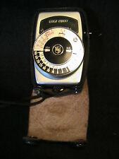 New listing Vintage Gold Crest Japan Light Exposure Meter W/ Case
