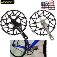Litepro Ultralight Hollow 130BCD 50-58t Bike Crankset Chainring 170mm Crank Set