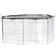 Recinto per cuccioli con rete conigli esagonale recinto piccoli animali nero