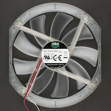 Cooler Master | 230x200mm Refurbished Clear 3+2-Pin Fan, Red LED | FA23030M12SFD