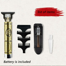 Men Electric Hair Clipper Trimmer Rechargeable Barber Carving Tool Set Home Use