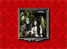 LILY HERMAN MUNSTER PARASOL GOTH MAKEUP POCKET COMPACT MIRROR