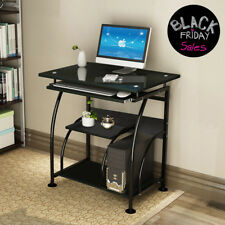 Nice Home Office Computer Desk PC Corner Laptop Table Workstation Furniture Black