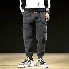 VANVENE Pantaloni sportivi da uomo Cargo Pantaloni da jogging Casual Stretch Slim Fit Jeans Pant M-4XL
