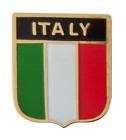 Italy National Flag Shield Pin Badge
