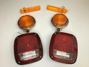 Fits Jeep For Willys Turn Signals And Tail Lights Set 6 Pieces Luces