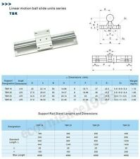 2XTBR16-3000mm 16MM FULLY SUPPORTED LINEAR RAIL SHAFT+ 4 TBR16UU Rounter Bearing