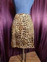 *Jones New York Cheetah Print Skirt Womens Size 8P NWT Closet256*