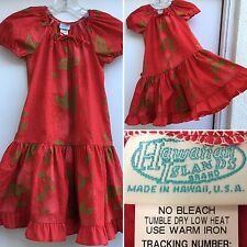Hawaian Islands Brand Hawaiian Dress Made In Hawaii Girls (kids) Sz 4