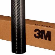 "3M 60"" X 12"" BLACK CARBON FIBER 1080 SERIES VEHICLE WRAP DECAL VINYL FILM"
