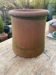 Vintage Terracotta Round Chimney Pot Garden Planter