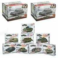 8Pcs 1:72 4D Assembly Simulated Plastic Military Heavy Tank Model Kid Toy Shot