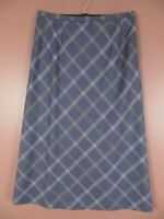 SK13755- PENDLETON Womens Virgin Wool Maxi Flare Skirt Multi-Color Argyle Sz 16