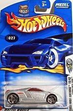 Hot Wheels 027 Cadillac Cien, 2003 First Editions 15/42 Variant Card METAL Mint