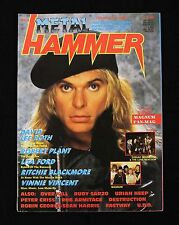 Metal Hammer UK Magazine 1988 #3 Vol. 3 David Lee Roth Magnum Lita Ford
