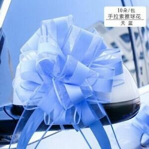 Snow Yarn Pull Bow For Wedding Party Supplies Extra Large Ribbon 10 Pieces / Lot