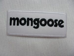 MONGOOSE NEW EMBROIDERED COMPANY IRON ON NAME PATCH TAG