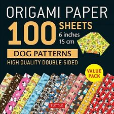 Origami Paper 100 Sheets Dog Patterns 6 Inch : High-Quality Double-Sided, Pap...