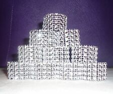 Silver Bling Rhinestone Napkin Rings Lot Of 10 U2013 100, Bridal Shower Party  Deco
