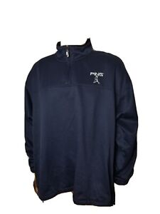 PING Collection Golf Solid Blue Performance Athletic Jacket Mens Large Pullover