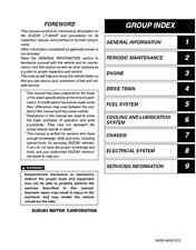 Suzuki 2002 - 2007 Vinson LT-A500F ATV service manual in 3-ring binder