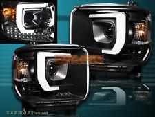 14-2015 GMC Sierra 1500 2500HD 3500HD Pickup LED Bar Projector Headlights Black