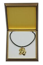 Jack Russel Terrier - gold plated necklace with image of a dog,quality,ArtDog IE
