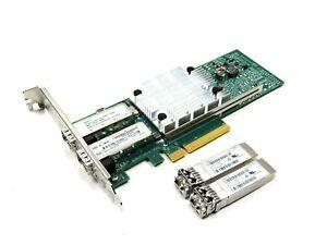 HP 530SFP+ Dual 10Gb Ethernet PCIe Full Profile NIC w/ SFP 656244-001 652501-001