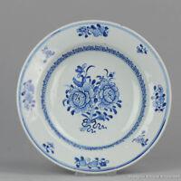 Antique 18th c Chinese Porcelain Blue & White Plate Qing Qianlong /Yongzheng ...
