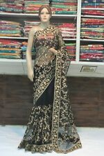 Bollywood Allover Jaal Work Net Designer Saree Indian Sari Bridal Party Dress
