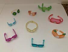 LPS Littlest Pet Shop Accessories Spa Glasses Sunglasses Goggles 9 Piece Lot