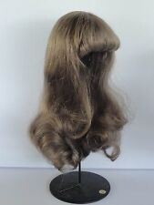 "100% Human Hair DOLL WIG  12.6"" (32cm). Long hair - Georgette BRAVOT - FRANCE"
