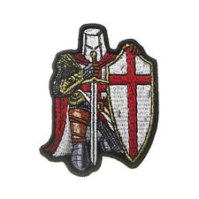 Embroidered Small Red Crusader Knight Christian Sew or Iron on Patch Biker Patch