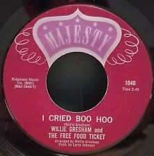 Willie Gresham & Free Food Ticket   Funk / Soul  45   I Cried Boo Hoo / Step By