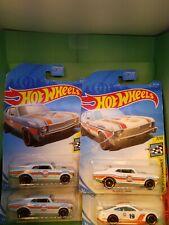 /'68 Chevy Nova /& /'18 Mustang GT A106 Gulf Oil 2019 Hot Wheels Lot of 3