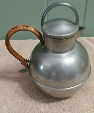 Hand Made Queens Art Pewter Danish Pewter #272 Made In USA Teapot with Straw