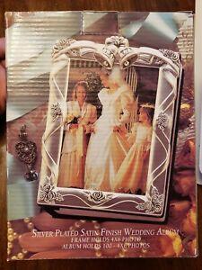 Vintage Godinger Silver Plated Satin Finish Wedding Album -100 pics 4 X 6   (J)
