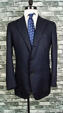 KITON Sport Coat Jacket Navy Blue 3/2 Button Front 100% Cashemere Working 44 L