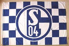FC Schalke 04 Karo Ösen Offizielles Produkt  100x150 cm Fahne Flagge Hissfahne