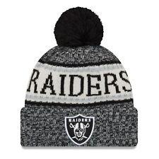 c4fb078cda8 Era Oakland Raiders Black 2018 NFL Sideline Cold Weather Official Sport Knit