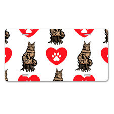 Maine Coon Cat Heart Paws Car Aluminum License Plate