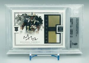 2016 Panini Impeccable Rookie Helmet & Patch Auto Michael Thomas /75 BGS 9