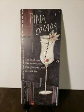 Metal Sign Vintage Style PINA COLADA Cocktail Decorative Tin Wall Plaque