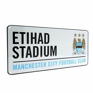 Manchester City FC Decorative Metal Stadium/Street Sign - Official Merchandise