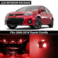 2000-2016 Toyota Corolla Red Interior LED Lights Package Kit