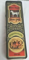 Whiskey Scotch Collectible The White Horse Cellar Blended Tin Hinged Lid Scotlan