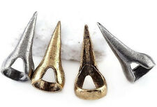 Old Gold Finger Spike Vintage Look Talon Claw Ring Sharp Jewellery Accessory