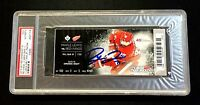 DYLAN LARKIN DETROIT RED WINGS NHL DEBUT/ 1ST GOAL SIGNED TICKET 10/9/15 PSA/DNA