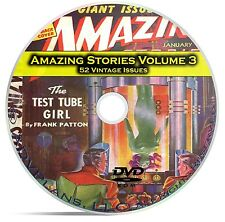 Amazing Stories Vol 3, 52 Classic Pulp Magazine, Fiction, Hugo Gernsbeck DVD C33